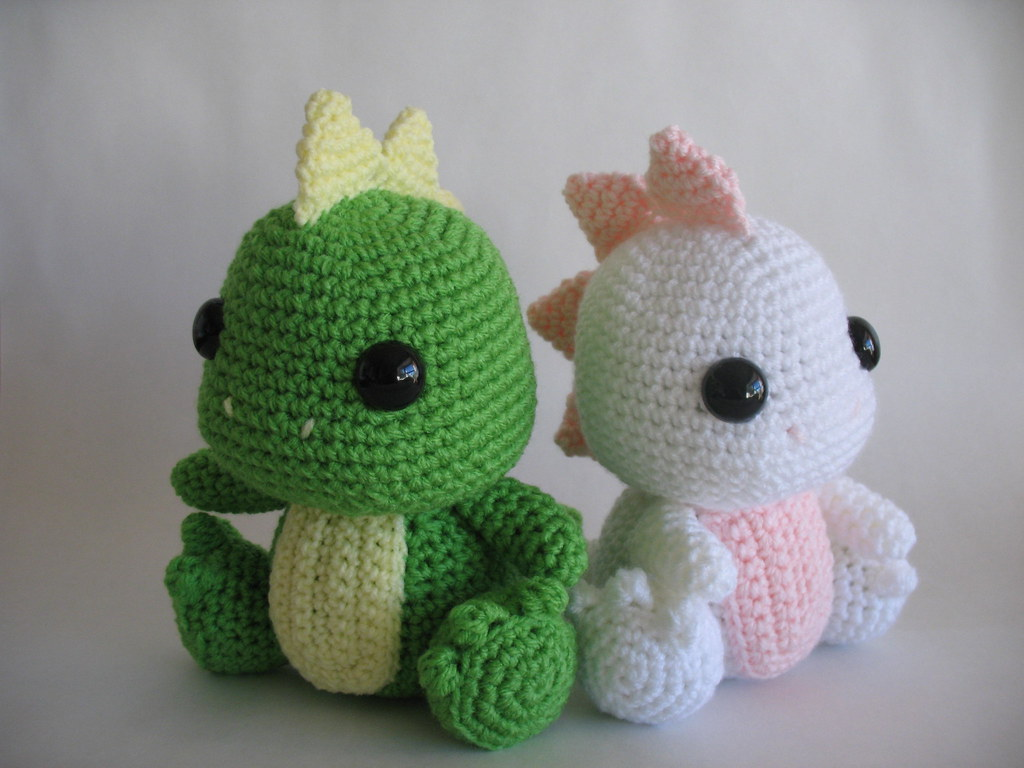 Amigurumi Dinosaur Pattern Free : Amigurumi Dinosaur Custom orders! djonesgirlz Flickr