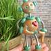 Paxe Patina Garden Robot Sculpture