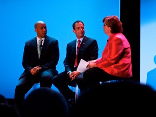 Corey Booker, Reince Priebus and Susan Page | by Geoff Livingston