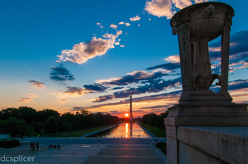 Sunrise from the Lincoln Memorial | by dcsplicer