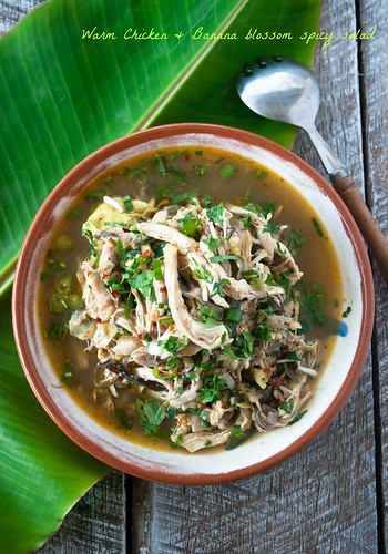 Warm Chicken n Banana blossom spicy salad Northern Thailand style | by Ae-K