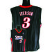 7003W-320 PHILADELPHIA 76ERS WOMENS NBA REPLICA JERSEY IVERSON, A #3  BLACK/RED