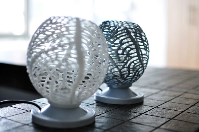 3d Printed Coral Wall Lamp Shade Math Art By Dizingof