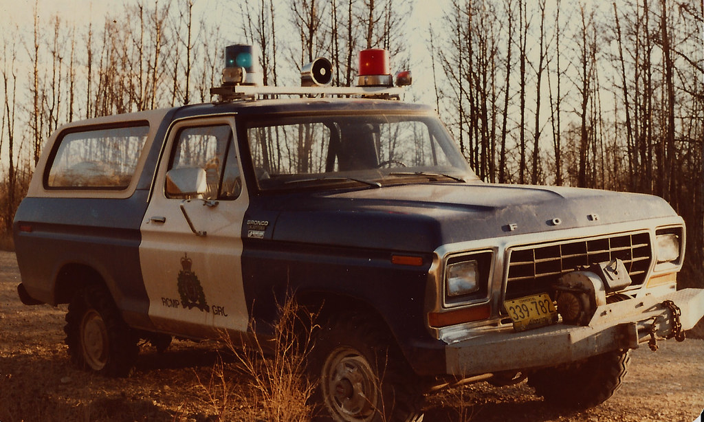 rcmp ford bronco 1980 swan hills alberta doug morris flickr. Black Bedroom Furniture Sets. Home Design Ideas