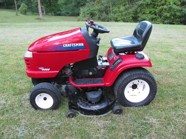 craftsman gt5000 lawn mower manual