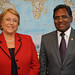 UN Women Executive Director meets with Dr. Mohamed Waheed, President of the Maldives, during the 67th session of the General Assembly in 2012