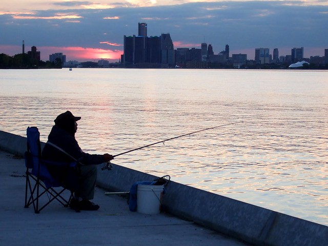 Late fishing at the detroit river flickr photo sharing for Detroit river fishing