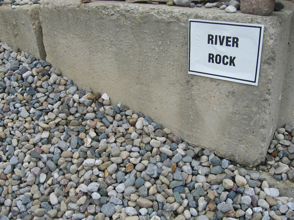 Free River Rock: River Rock On White Background Royalty Free