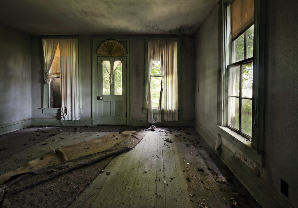 living room | From an abandoned farmhouse in rural Indiana