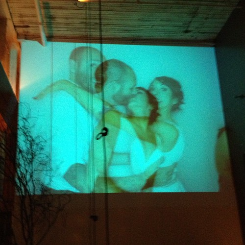 Making out double exposure photo booth projection town   by Buster ...