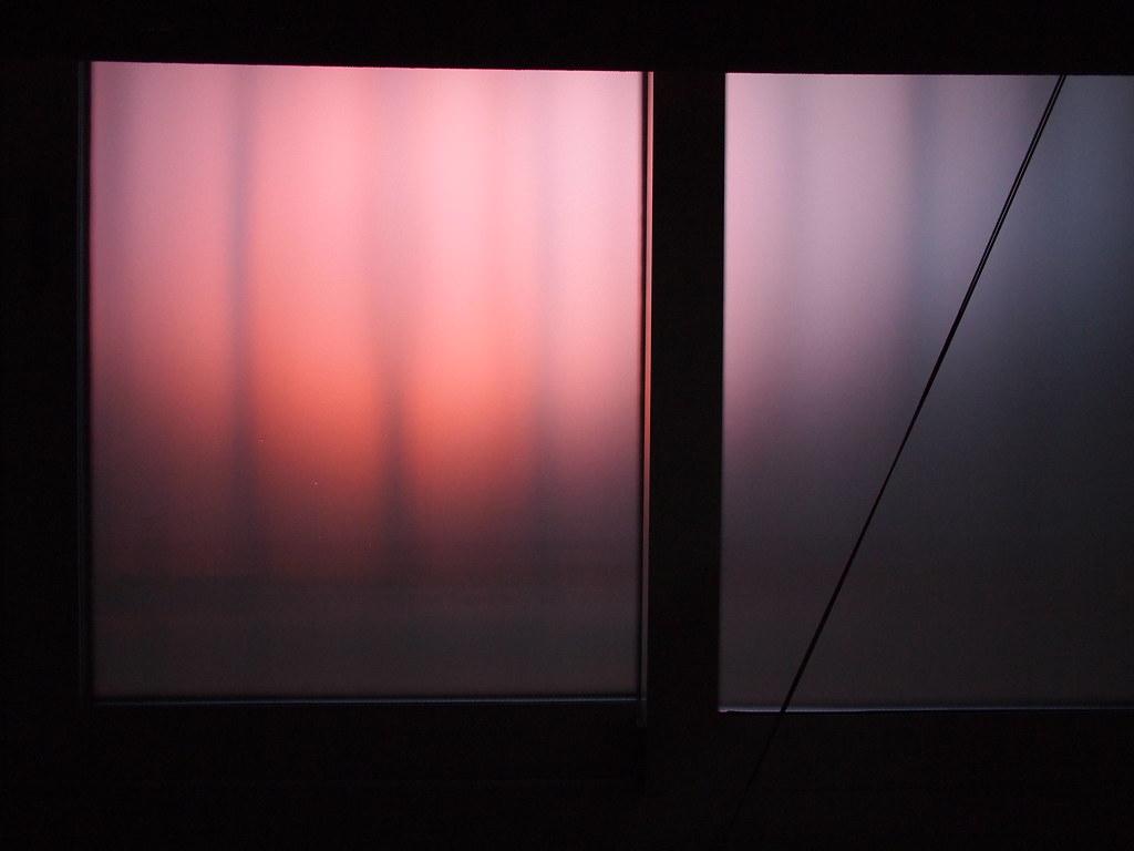 Atardecer tras la ventana