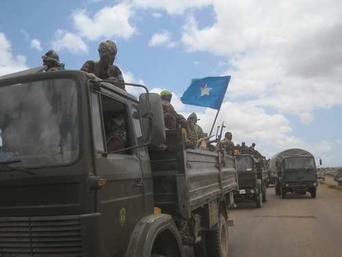 US-backed forces of the Somalia Transitional Federal Government and AMISOM enter the town of Wanlaweyn. The Horn of Africa nation is being occupied by imperialism utilizing proxy forces from the region. | by Pan-African News Wire File Photos