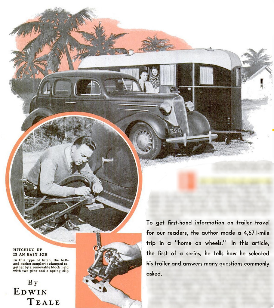 """To get first-hand information on trailer travel, the author made a 4,671-mile trip in a """"home on wheels."""""""