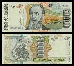 (ARS9d) 1989 Argentina: Banco Central de la República Argentina, Cincuenta Mil Australes (A/R)...