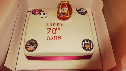 Football themed birthday cake | by platypus1974