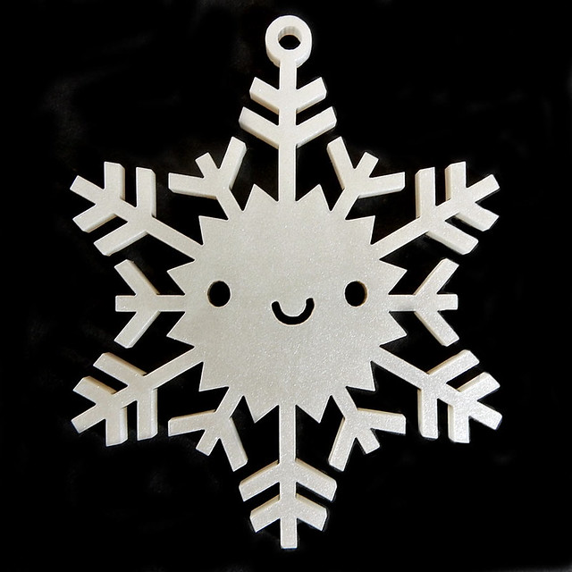 Silver Shimmer Snowflake Ornament
