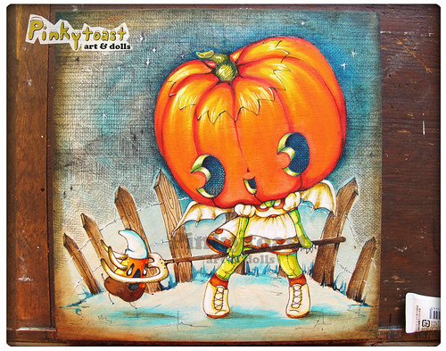 Girl Pumpkin Pumpkin Head Girl-kawaii