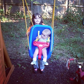 Holden's first time in the swing. :) | by springtree road