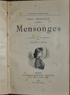 Mensonges by Paul Bourget 1890 - title page | by AndyBrii