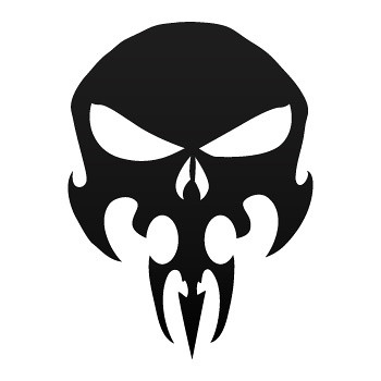 Stickers Factory Decal Punisher Skull 02535 Stickers