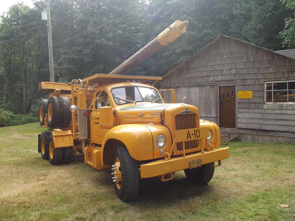 Mack logging truck