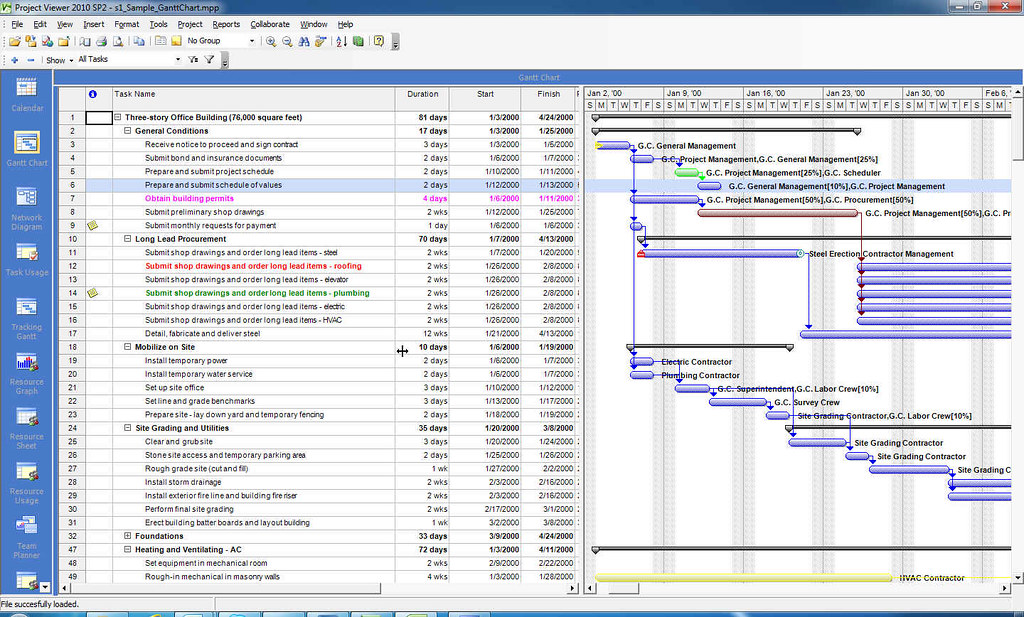 Housatonic project viewer 2010 gantt chart ms project vi for Microsoft viewer project 2010