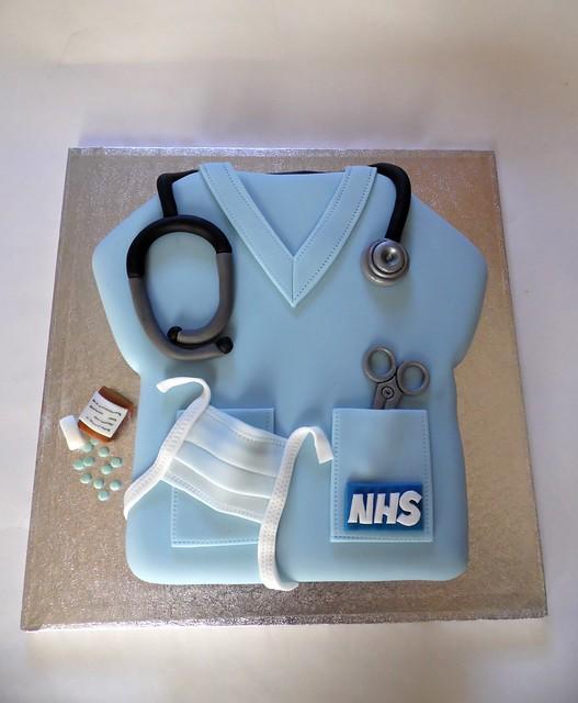 Nurse Scrub Cake