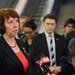 Catherine Ashton speaks to the press