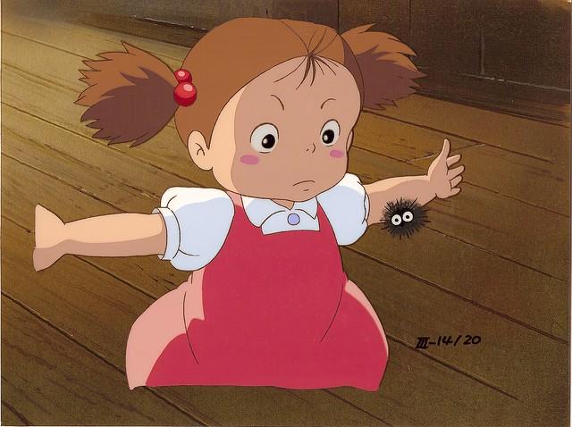 Die kleine Mei entdeckt im Film, daß ihr Haus von noch kleineren Wesen bewohnt wird