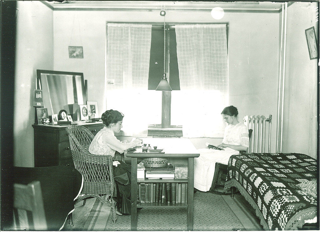 ... Students Studying In A Currier Hall Dorm Room, The University Of Iowa,  1916 | Part 41