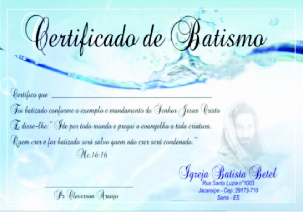 Certificado De Batismo Diego Lopes Flickr