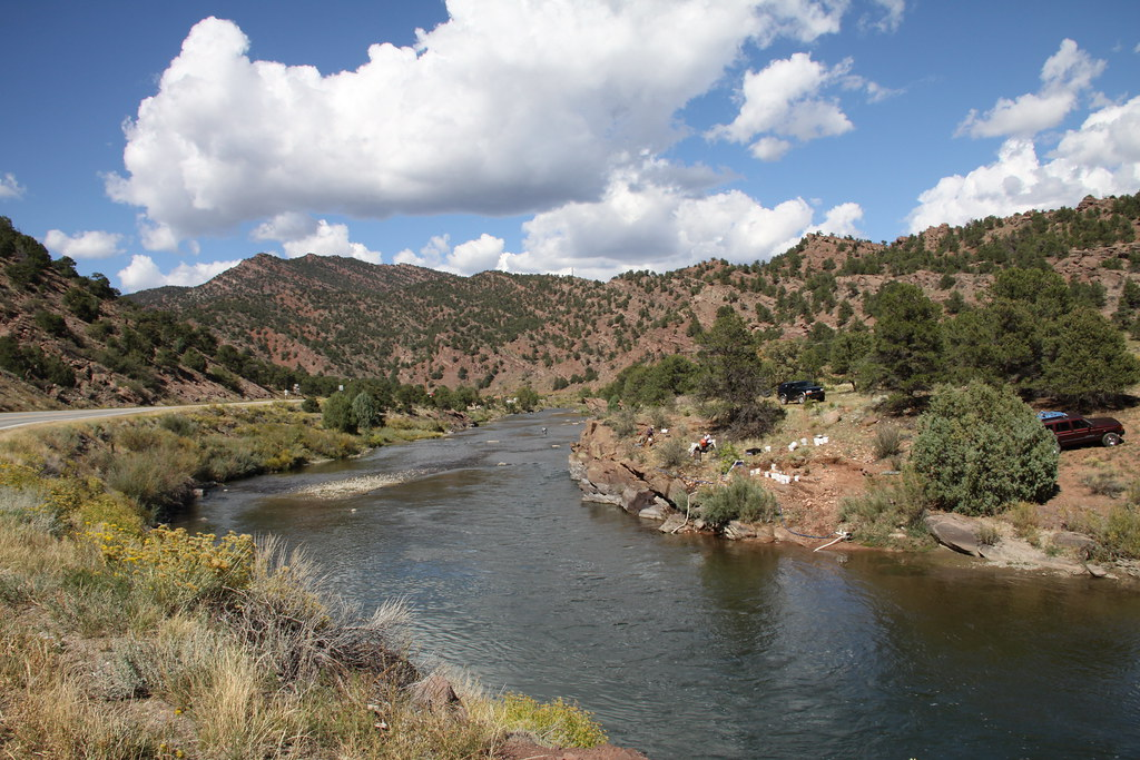 Arkansas River Colorado On Highway 50 West Of Canon