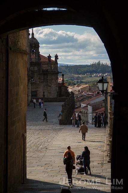 The city of Santiago de Compostela.