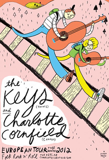 KEYS/CHARLOTTE CORNFIELD tour poster | by Ohara.Hale