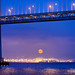 Moonrise Bay Bridge San Francisco