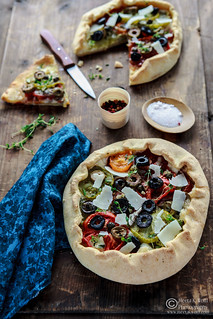 Tomato Goat Cheese Anchovy Galette by Meeta K. Wolff | by Meeta Wolff @ What's For Lunch, Honey?