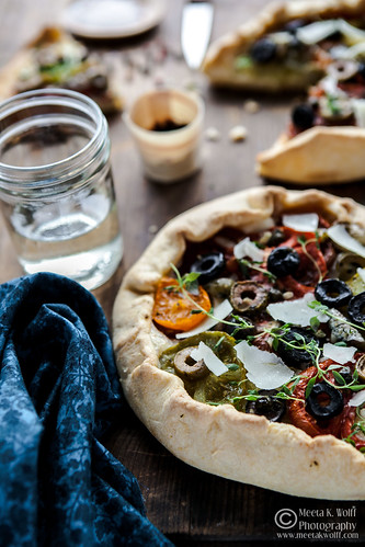 Tomato Goat Cheese Anchovy Galette (0059) by Meeta K. Wolff | by Meeta Wolff @ What's For Lunch, Honey?