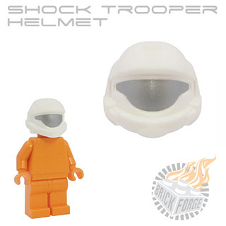 Shock Trooper Helmet - White w/ Silver Visor | by BrickForge