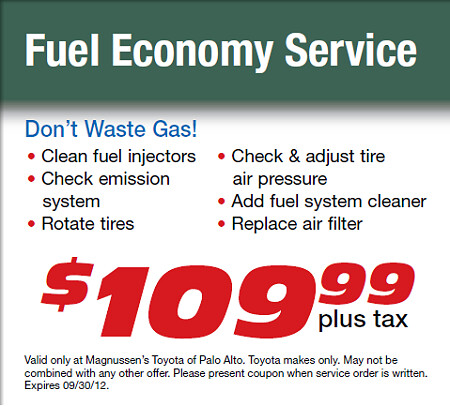 ... Fuel Economy Service   This September 2012 At Toyota Service Center In  Bay Area | By