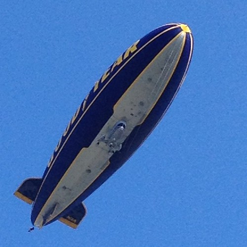 Great Goodyear blimp sighting in Akron Ohio today! Close, hey? | by DavidMChildress