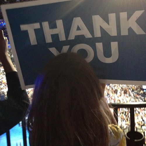 My family says thank you @ #dnc2012 | by QueenofSpainErin