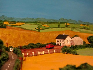 A Country Landscape And Farmhouse Diorama Made Completely From Recycled Materials - 2 Of 4 | by Kelvin64