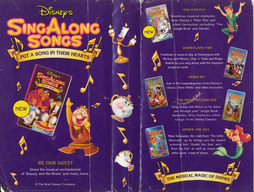 Sing Along Songs Disneyland Fun Uk Vhs 1993 Inside Cover Flickr