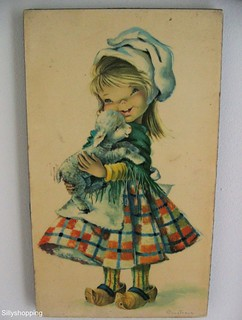 Vintage Big Eyed Girl wall art | by Sillyshopping