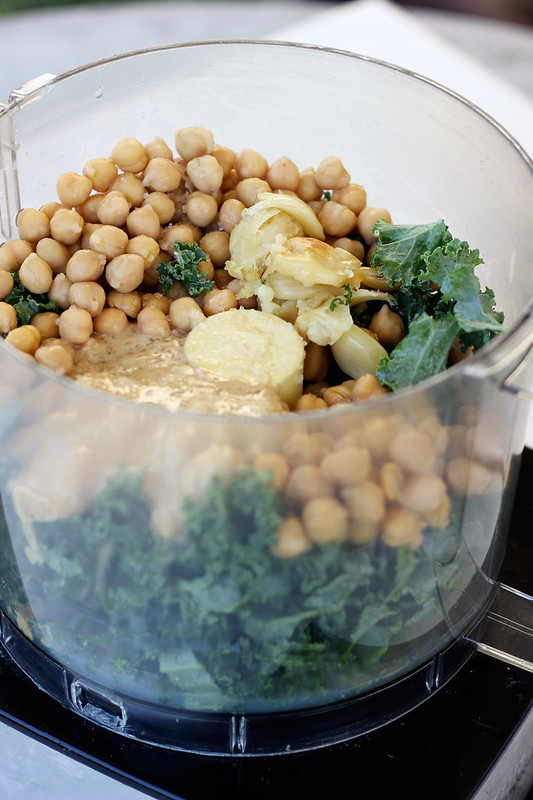 Roasted Garlic & Kale Hummus - Gluten-free + Vegan