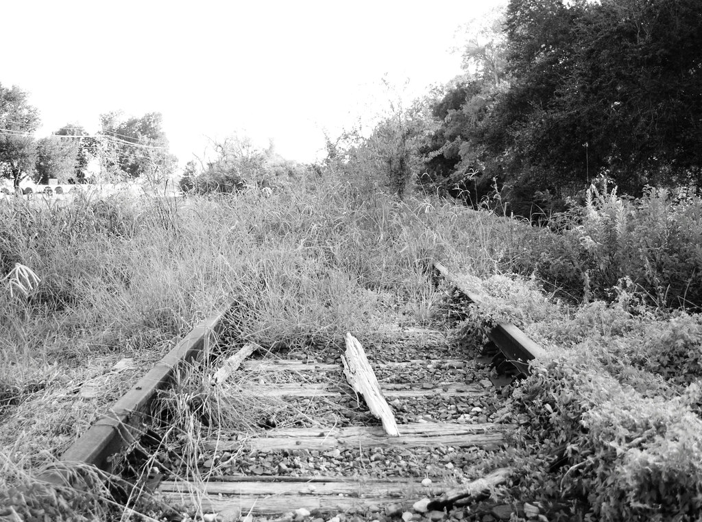 abandoned railroad right