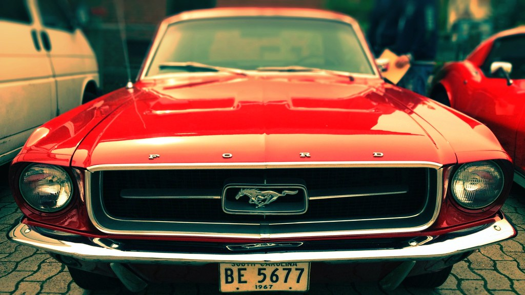 1967 ford mustang coupe noch mit altem nummernschild flickr - Red 1967 Ford Mustang Coupe