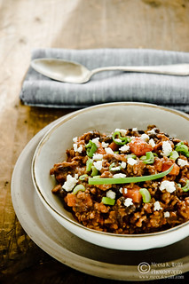Black Bean Beef Chili by Meeta K. Wolff | by Meeta Wolff @ What's For Lunch, Honey?