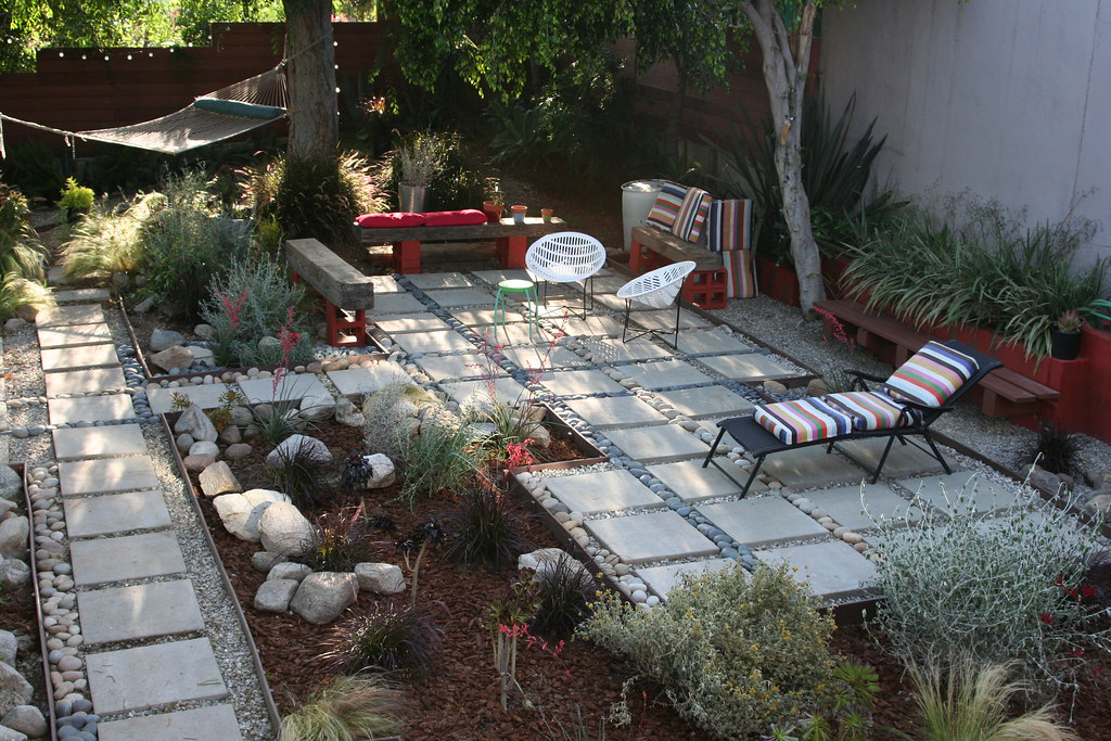 Sustainable Garden Grey Water Garden With Supplemental