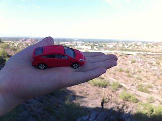 Desert Geocaching in Phoenix - Mini-P and the scenery | by Moriartys